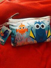 New! Disney Pixar Finding Dory Wristlet/Make-Up Bag/Cosmetic Purse