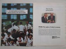 9/1992 PUB PRATT & WHITNEY CANADA PW300 TURBOFAN CHINE CHINA BOURSE ORIGINAL AD