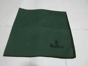 """USED POLO CLUB GREEN SOLID PATTERN COTTON 18"""" POCKET SQUARE HANDKERCHIEF MEN"""
