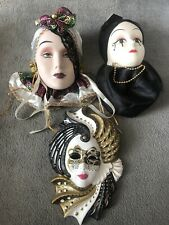Decorative Masks (x3)
