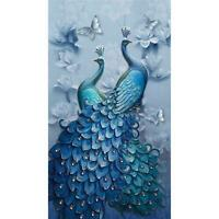 5D DIY Full Drill Square Diamond Painting Peacock Cross Stitch Mosaic Kit Decor