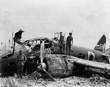 WW2 WWII Photo Crashed Japanese G4M Betty Munda World War Two Pacific / 6170