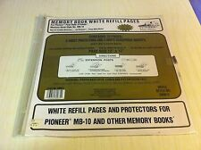 Memory Book White Refill Pages Protectors Pioneer MB-10 RMW-51 12X12 Archive New