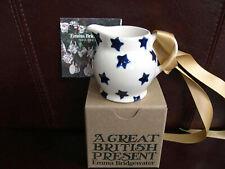 EMMA BRIDGEWATER BLUE STAR STARRY SKIES CHRISTMAS DECORATION BAUBLE MINI JUG
