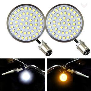 Eagle Lights Value Line Harley Front LED Turn Signals w/ White Running Light DRL