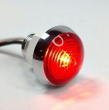 "1-1/4"" Dual Function Red LED Marker Light Vintage/Classic Mini Moon Chrome"