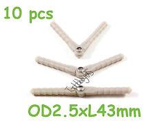 10pcs Nylon Pivot & Round Hinges D2.5xL43mm, RC Plane Airplane US TH008-00102