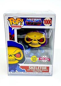 Masters of the Universe Skeletor GITD SE Funko Pop Vinyl 1000 with Pop Protector