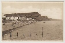 Devon postcard - Sidmouth, The Beach, Looking East
