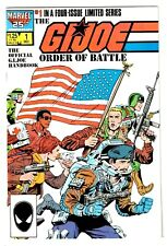 GI JOE ORDER OF BATTLE #1 (NM) Official Handbook Marvel 1986 High Grade