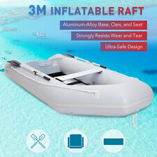PVC 3M Inflatable Boat Raft for 4 Adults Ideal for Fishing Boating Hunting UK
