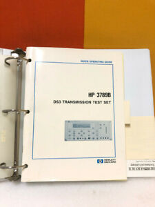 HP 03789-90001 3789B DS3 Transmission Test Set Quick Operating Guide
