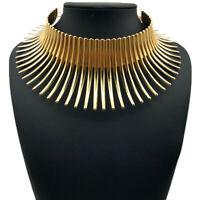 African Jewelry Vintage Necklace Metallic Adjustable Choker Maxi Flower Collar