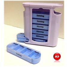 Pillenturm Pillenbox 7 Tage Pillendose Tablettenbox Medikamentendose Woche