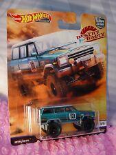 '88 JEEP GRAND WAGONEER ☆teal;RealRiders☆2019 Hot Wheels Desert Rally 101 July 5