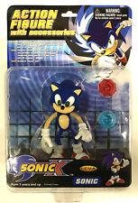 FEVA Sega Sonic X 5 inch Action Figure New Sonic the Hedgehog with 2 emeralds