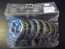 NEW CROSCILL HOME SET OF 7 DRAPERY CLIP RINGS PEWTER WINDOW DRAPES CURTAINS