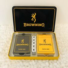 *NEW* Browning Cards & Dice Set In Collectible Metal Case *FREE SHIPPING*