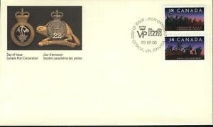 """CANADA Sc FDC 1250a (pair) """"CANADIAN INFANTRY REGIMENTS"""""""