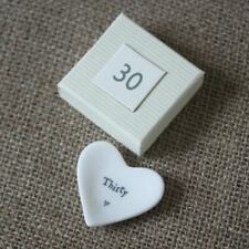 30th Birthday Gift - Porcelain Heart Dish by East of India 2090 EOI
