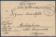 DSW Wanderstempel Kalkfontein Ersttag 1906 Feldpostkarte geprüft (S15782)