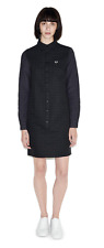 Fred Perry Window Pane Check Shirt Dress - D8674 - Womens - Black - UK 8