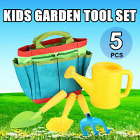 Childrens Gardening Set Watering Can Garden Tools Plants Rake Shovel Trowel D2