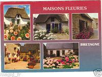29 - cpsm - Häuser Blumenmuster Bretagne ( i 5144)
