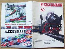 CATALOGO FLEISCHMANN 1969* - ITALIANO - LOCOMOTIVE, TRENI e AUTO RALLYE