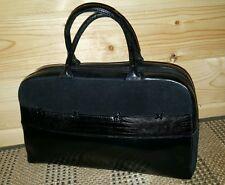 SONDRA ROBERTS Leather & Suede Snake/Lizard Animal Handbag