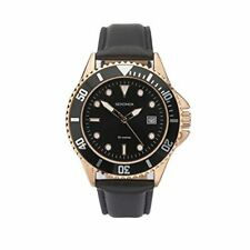 1515 Mens Sekonda Diver style Watch with Black Dial & Leather strap easy read