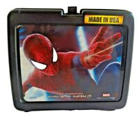 The Amazing Spiderman 2 Vintage Plastic Lunchbox FLAWED SEE PHOTOS