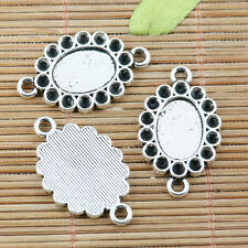 8pcs tibetan silver plated oval shaped cabochon setting connector EF2269