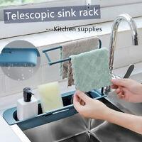 Telescopic Sink Rack Holder Expandable Soap Sponge Storage Drain Basket Kitchen