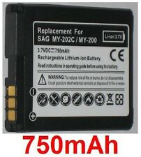 Batterie 750mAh type 252917987 253030172 287144358 Pour Sagem MY-300c