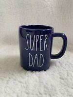 "Rae Dunn LL ""SUPER DAD"" Blue Coffee Mug New 2020"