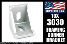 Qty. 10 Corner Framing Brackets for 3030 Extrusion, 30mm Aluminum T-slot Gusset