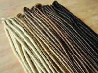 Dreadlock Extensions DOUBLE ENDED 50cm long when folded, 30 dreads/15 extensions
