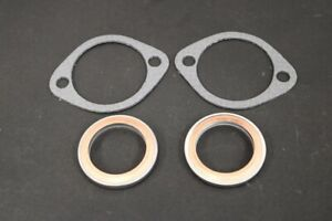Yamaha RD350LC Exhaust Gaskets x2 Copper Steel x2 Fibre Paper - All Years