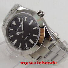 40MM parnis black dial luminous automatic miyota 8215 movement mens watch P157