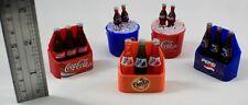 5 Pcs. Dollhouse Miniature Coke Pepsi Fanta Fridge Magnet Drinking Bottle Coca