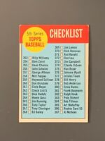 1963 Topps Baseball 5th Series Checklist #362 EX / Unmarked