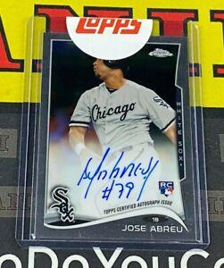 2014 Topps Chrome Jose Abreu Rookie Base Auto Chicago White Sox