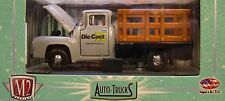 GRAY 1956 FORD F-100 STAKE BED TRUCK M2 MACHINE 1:64 SCALE DIECAST METAL TRUCK