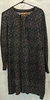 Tory Burch Size M Jersey Knit Boxy Style Long Sleeve Animal Print Dress