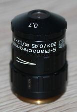 Zeiss MICROSCOPIO Microscope obiettivamente S-planachromat LDN 20x/0,45/front lente 0,7