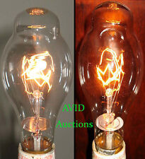 2 STEAMPUNK LIGHT BULB S VINTAGE INDUSTRIAL NOS COOL FILAMENTS WE SHIP WORLDWIDE