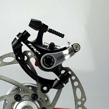 TRP Spyre Alloy Mechanical Disc Brake Set Front & Rear with 160mm Rotor Silver