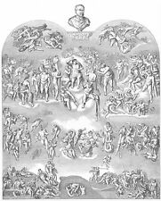 Michelangelo LAST JUDGEMENT FRESCO SISTINE CHAPEL ~ Old 1859 Art Print Engraving