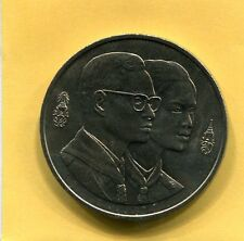 King Bhumibol Adulyadej & Queen Sirikit 100 Baht 1993 Thailand Coin Boy Scouts c